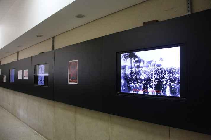 O Corredor da Memória,  espaço destinado a exposições digitais temporárias, fica no térreo da Faculdade de Medicina da UFMG