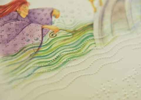 Página de livro infantil em Braille: demanda por material didático adaptado está em expansão