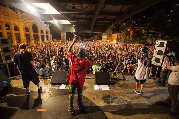 Duelo de MCs Nacional 2016, no Viaduto Santa Tereza