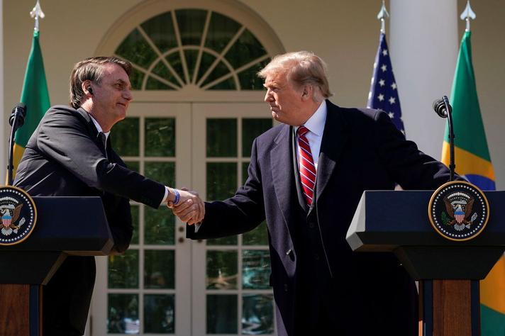 Encontro com Donald Trump foi a primeira visita de Bolsonaro a um chefe de estado