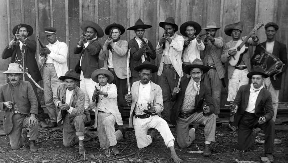 Guerra do Contestado: Vaqueanos da Serraria Lumber. Três Barras, Santa Catarina, 1915.