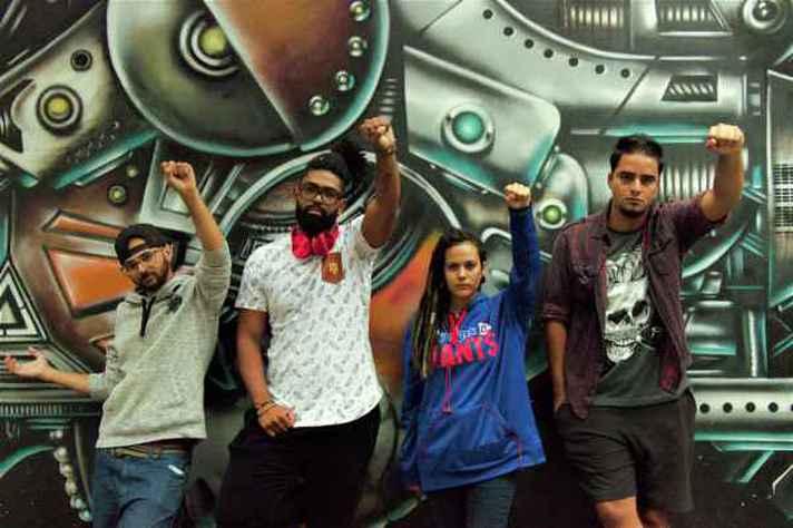 Wesley (Woc Jay), Vitor Gonzaga, Letícia Fox e Luan Lima, idealizadores do Festival Hip House.