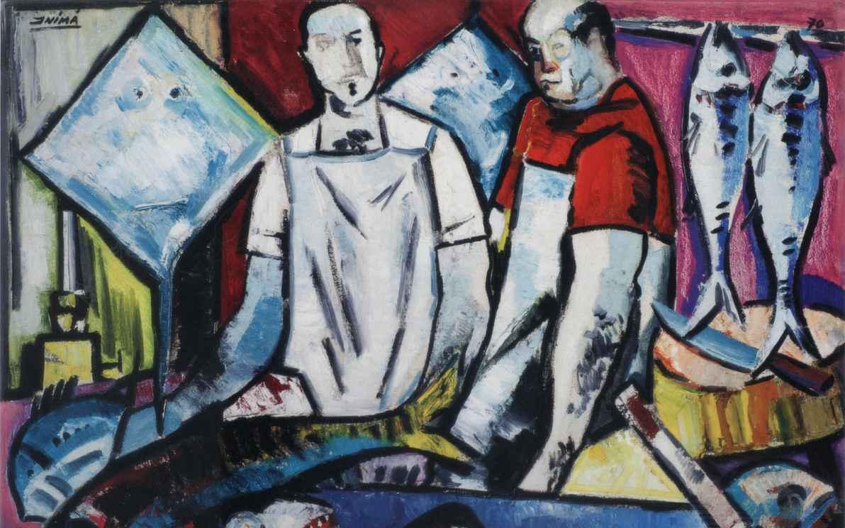 Os peixeiros (1970), de Inimá de Paula, pertence à coleção Amigas da Cultura