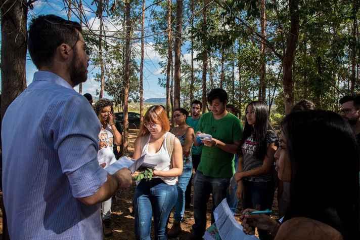 Atividade acadêmica na área de engenharia florestal no campus Montes Claros
