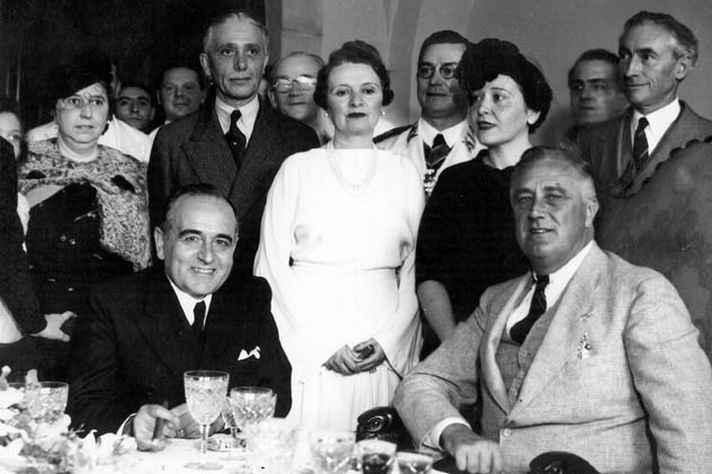 Getúlio Vargas e Franklin Roosevelt no Rio de Janeiro, em 1936.