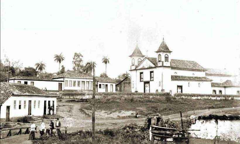 Largo da Matriz da Boa Viagem, no Arraial do Curral del-Rey, no fim do século 19