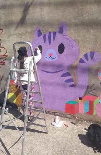Foto tirada pela mestre em Administração pela UFMG Alexsandra Nascimento para sua dissertação sobre grafiteiras de BH