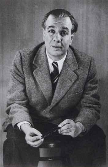 Retrato de Jorge Luis Borges feito em 1951 pela fotógrafa alemã Grete Stern