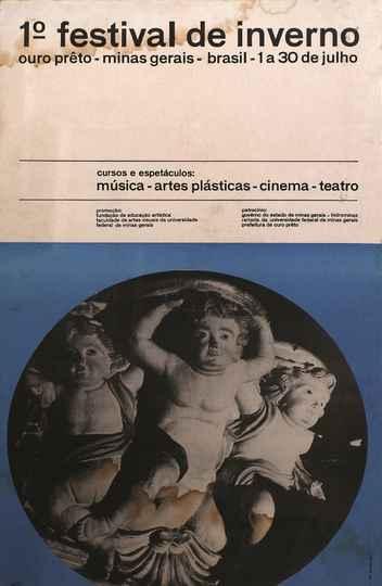 Cartaz da 1ª edição do Festival de Inverno, realizada em Ouro Preto em 1967