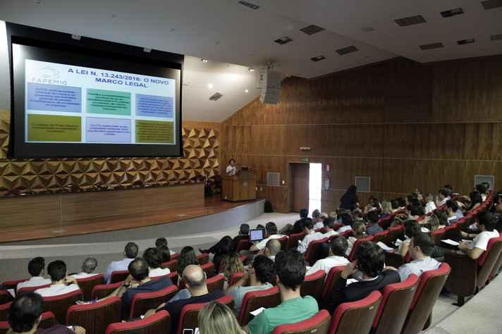 Participaram do evento representantes da comunidade acadêmica e de organismos de inovação