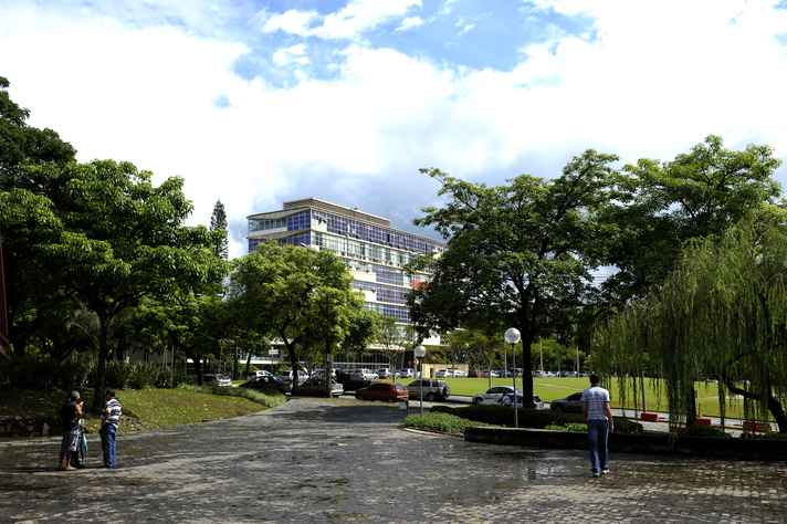 Vista do prédio da Reitoria, que vai receber cerimônia de abertura do evento