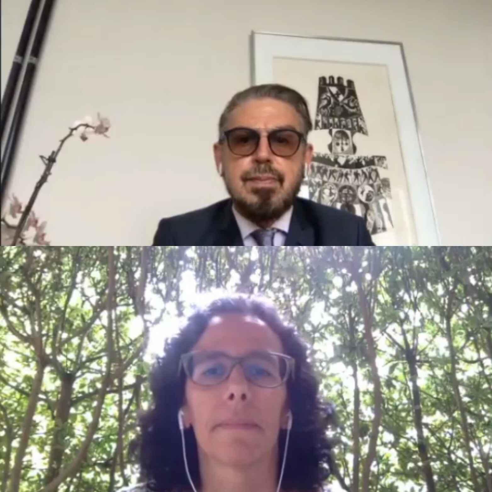 O pró-reitor de Pós-graduação, Fábio Alves, e a pró-reitora adjunta, Silvia Alencar, fizeram o anúncio dos vencedores em cerimônia virtual