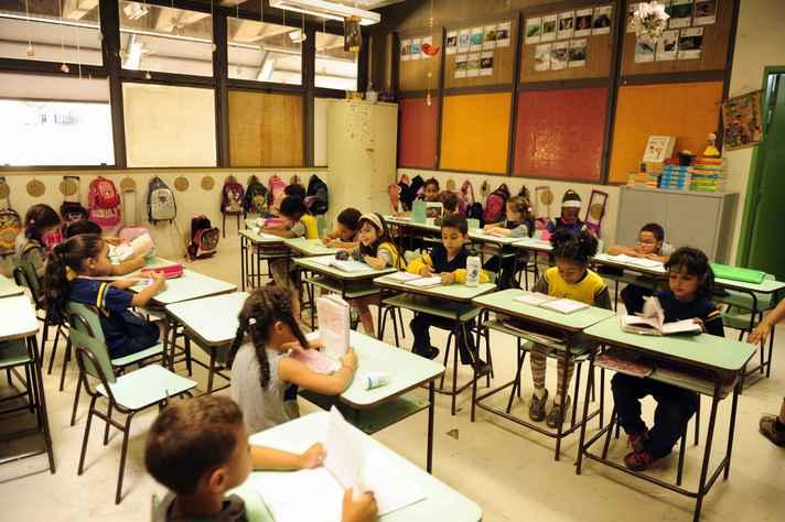 Crianças em processo de alfabetização no Centro Pedagógico da UFMG