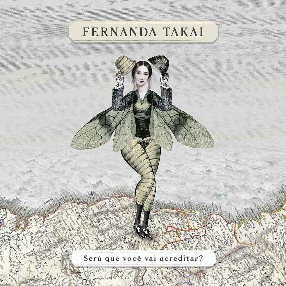 Capa do novo álbum solo da cantora e compositora Fernanda Takai