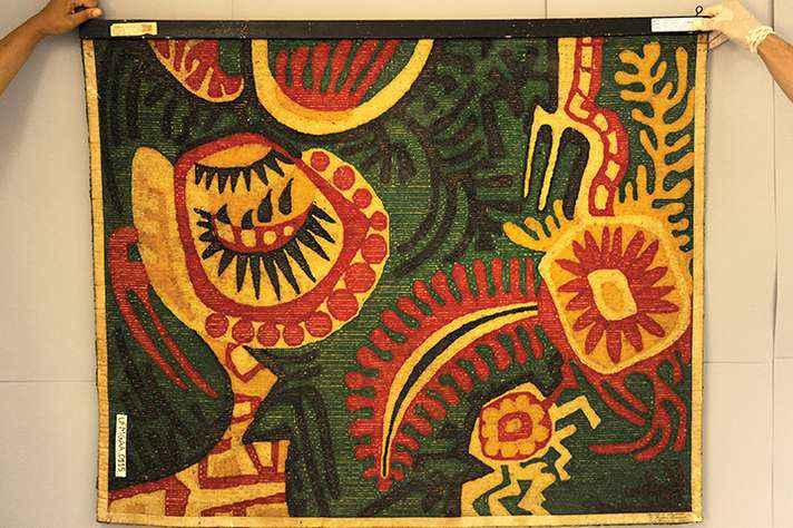 Obra de tapeçaria de Marlene Trindade