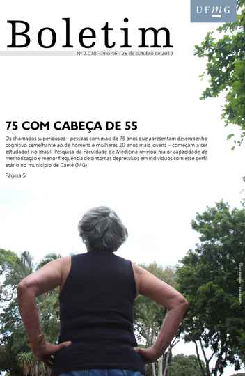 Capa da edição 2.078 do Boletim (com foto de Carol Morena / Medicina UFMG)