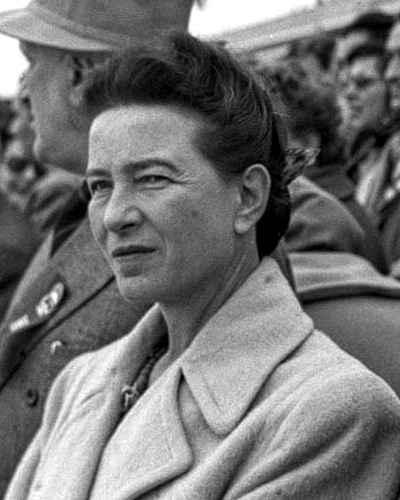 Simone de Beauvoir em Pequim, 1955