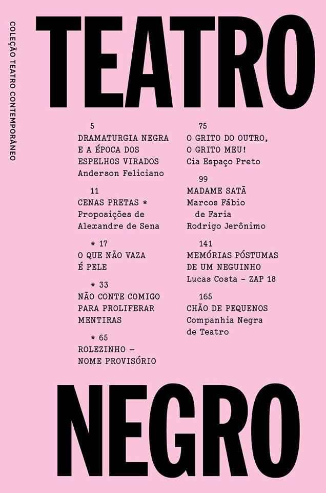 Capa do livro Teatro Negro
