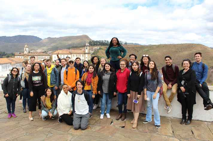 Turma do Summer School de 2019, em Ouro Preto: neste ano, passeios serão virtuais