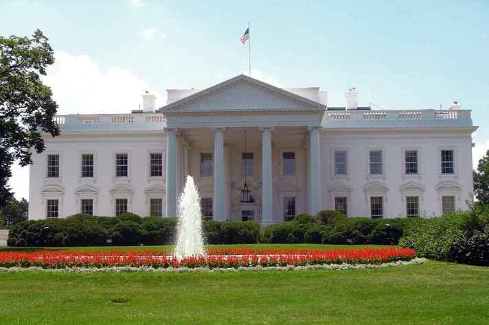 A Casa Branca, em Washington, é a residência oficial do presidente dos EUA