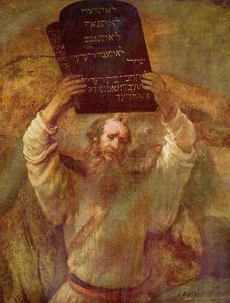 Rembrandt retrata Moisés com as Tábulas da Lei