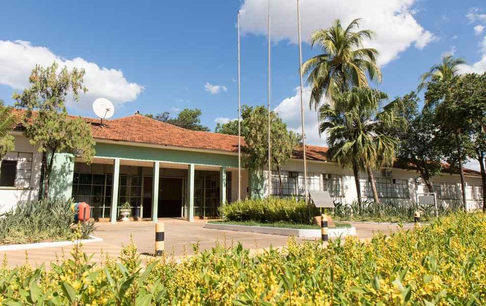 Visão parcial do Bloco A do campus Montes Claros