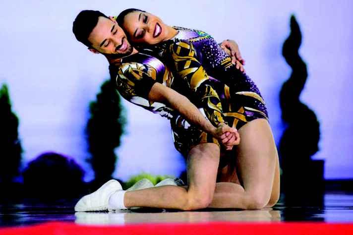Lucas e Tamires: sucesso em dupla e nas performances individuais