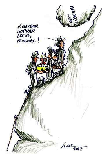 Charge publicada em 1988 ilustra caráter atemporal dos trabalhos de LOR