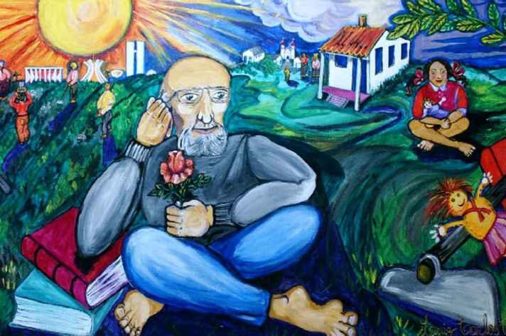 Painel Paulo Freire no Centro de Formação, Tecnologia e Pesquisa Educacional em Campinas (SP)