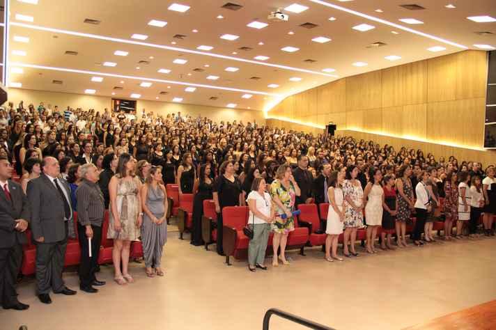 Formatura de alunos dos cursos de Geografia e Pedagogia a distância, em 2012