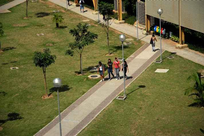 Movimentação de estudantes no campus Pampulha: