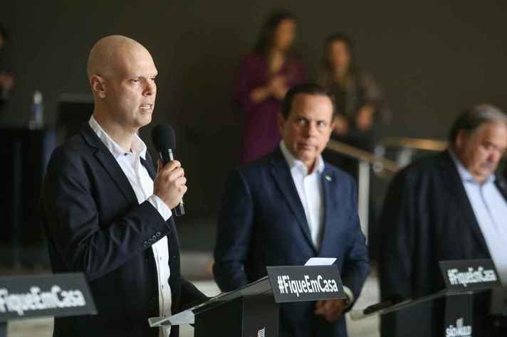 Prefeito (Bruno Covas) e governador (João Doria) de São Paulo têm adotado medidas de forma conjunta