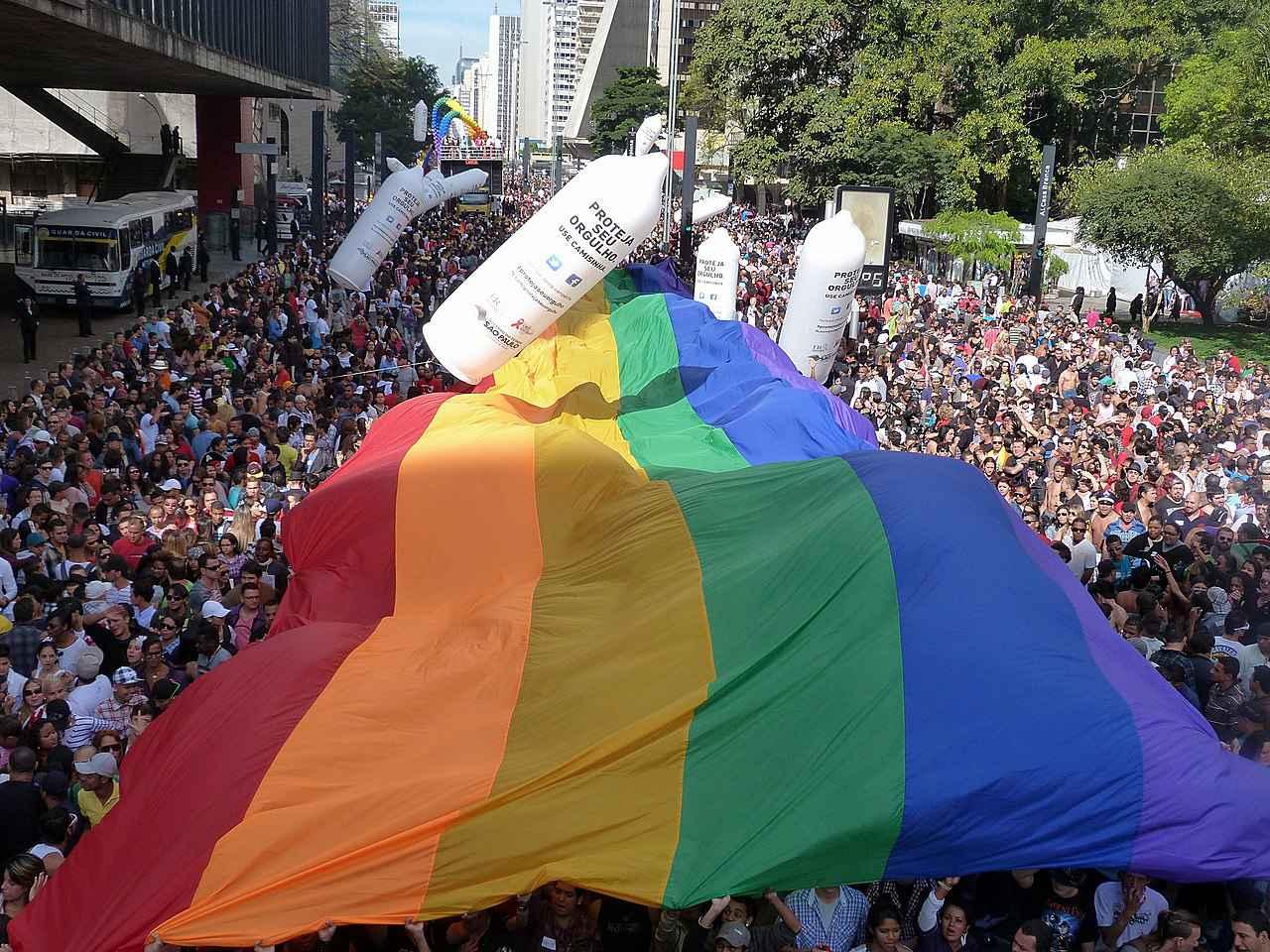 Parada do Orgulho Gay, em São Paulo, em 2012