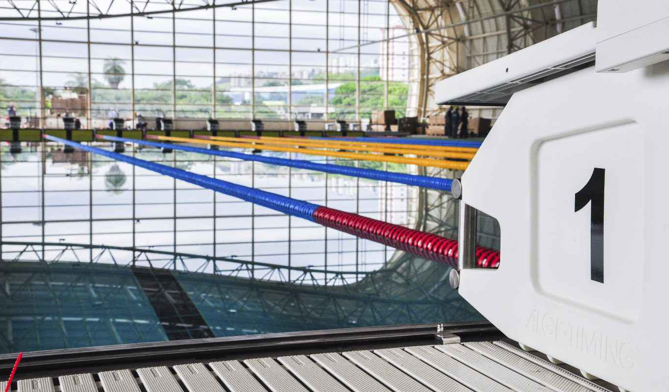 Piscina Olímpica do CTE é utilizada para treinamento de atletas paralímpicos de alto rendimento