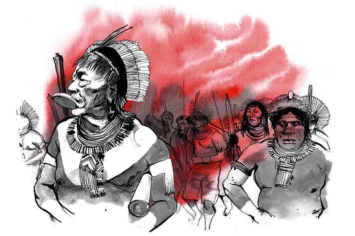 Desenho  do ilustrador João Teófilo, presente no filme