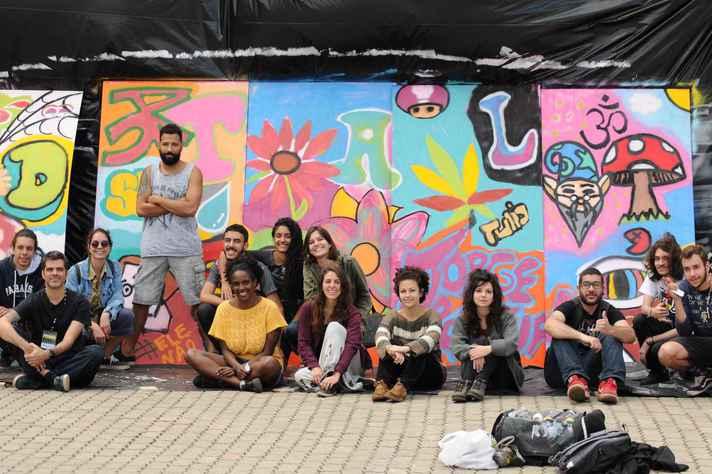 Oficina de grafite da 6ª edição do HipHop.doc, em Ouro Preto