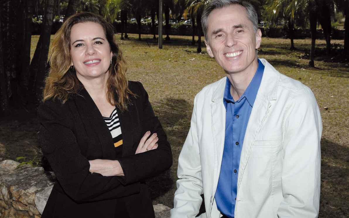 Sandra e Alessandro: prontos para enfrentar os desafios que se desenham para a Universidade