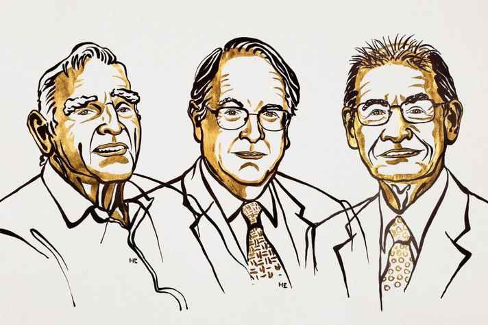 Os ganhadores do Nobel de Química John Goodenough, M. Stanley Whittingham and Akira Yoshino