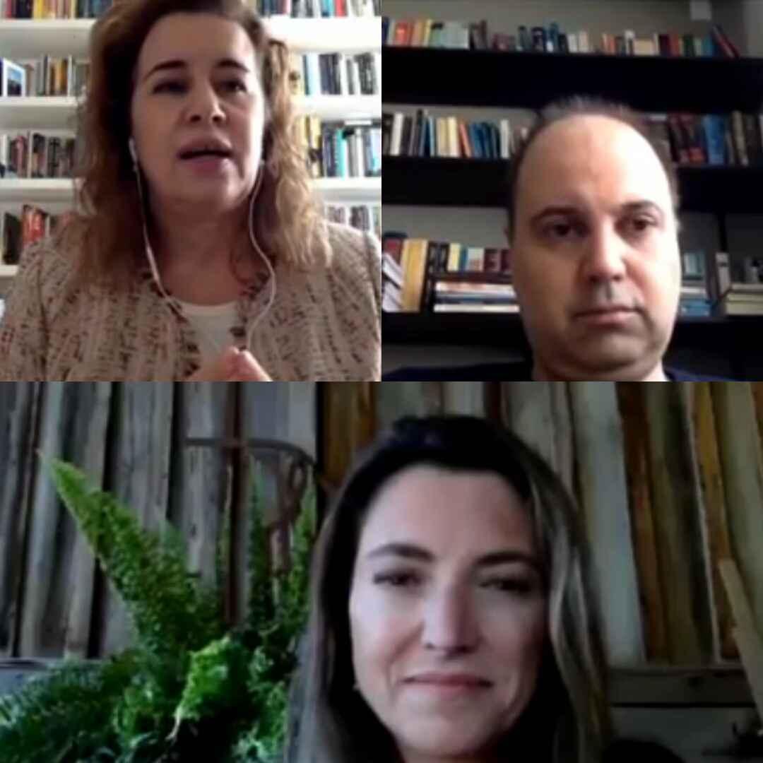 Sandra Almeida, Aziz Saliba e Patrícia Campos Mello: