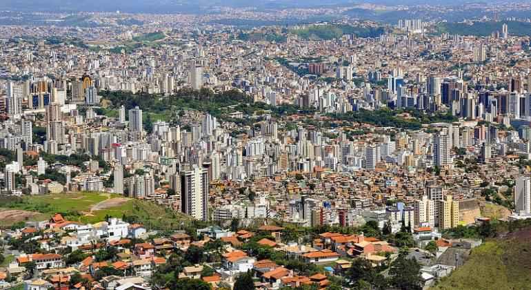 Vista panorâmica de Belo Horizonte, uma das cidades analisadas no estudo