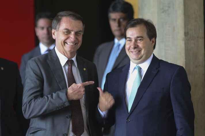 Clima esquentou nos últimos dias entre Jair Bolsonaro e o presidente da Câmara Rodrigo Maia