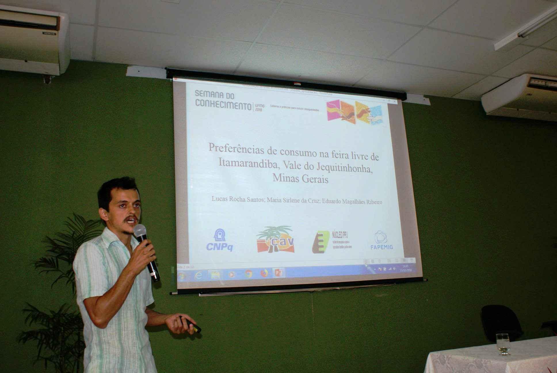 Estudante Lucas Rocha Santos, um dos 17 pré-selecionados para representar a iniciação científica do ICA