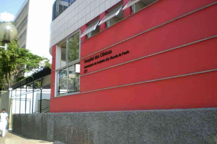 Fachada do Ambulatório São Vicente, local no qual são realizadas as reuniões