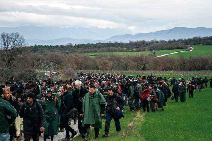 Leva de migrantes do Oriente Médio a caminho da Europa