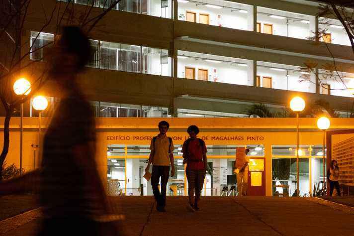 Fachada da Face, no campus Pampulha, sede de algumas atividades