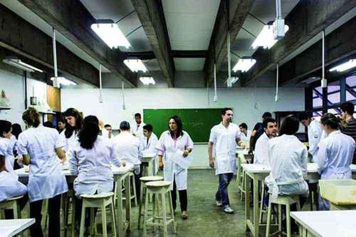 Aula prática em laboratório do ICB