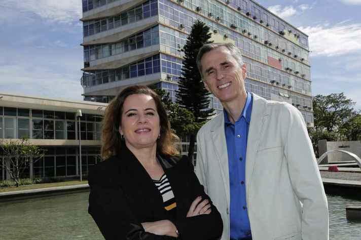 Sandra Goulart e Alessandro Fernandes: