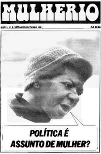 Capa de jornal feminista que circulou nos anos 1980