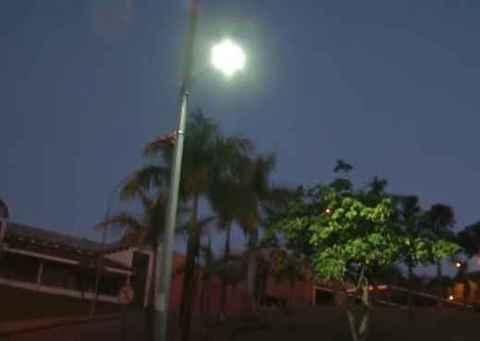 Luminária de led no campus Pampulha: