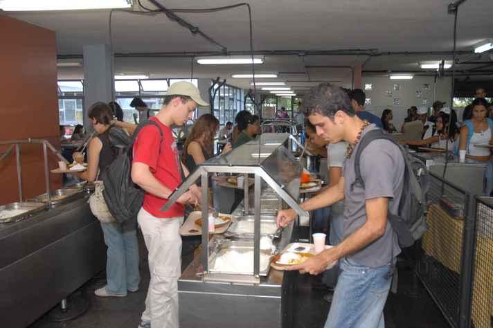 Restaurante Setorial 2, no Campus Pampulha, e os bandejões dos campi Saúde e Montes Claros funcionarão nesta segunda